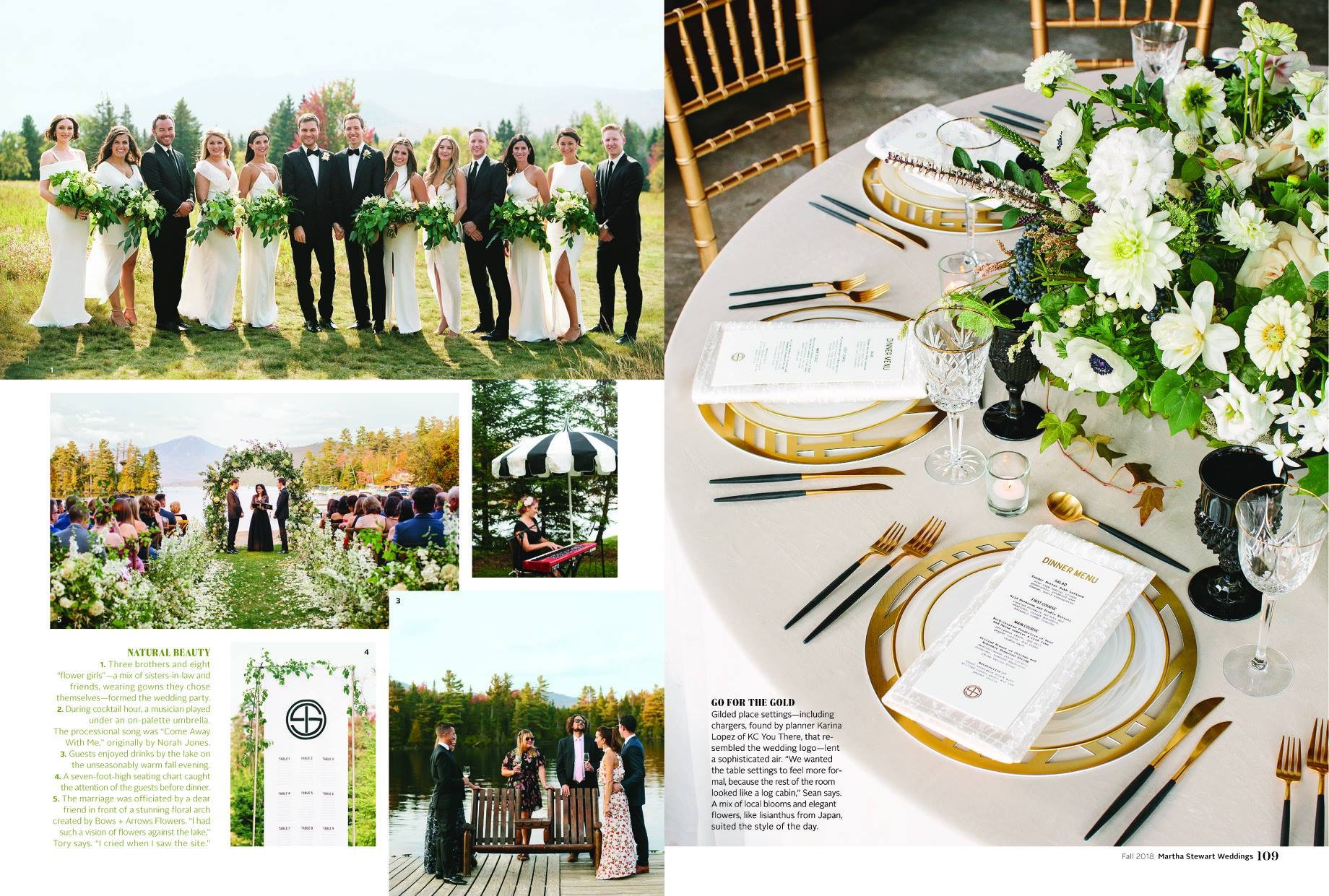 Martha Stewart Weddings: Martha Stewart Weddings: Lake Placid Real Wedding